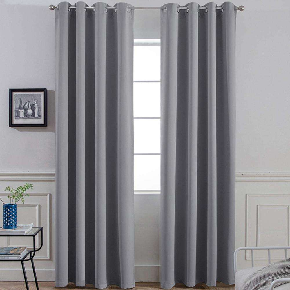 Wholesale Ready Made Blackout Curtain Fabric, Thermal Insulated Curtain Fabric Blackout, Cheap Living Room Blackout Curtain