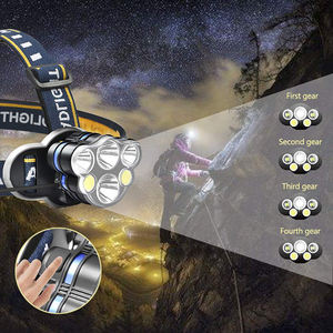 Best Cob Led High Power Headlamp  Rechargeable Waterproof Hunting Headlight Head Flashlight Lampe Frontale Torch Led Headlamp