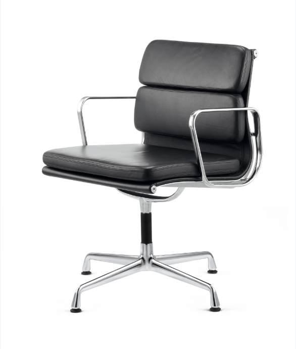 Conference Chair With Armrest EA208 Soft Pad 4 Legs Rotatable Low Conference Chair With Armrests