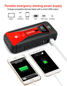20000mAH Multifunction Fast Charge Lithium Car Jump Starter with Air Compressor and LCD Screen Portable