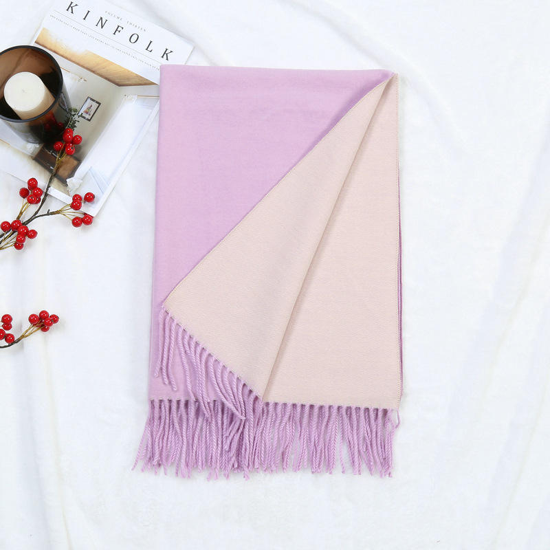 2019 New Arrival Fashion Solid Color Women Pashmina Scarf Winter 380g Cashmere Shawl