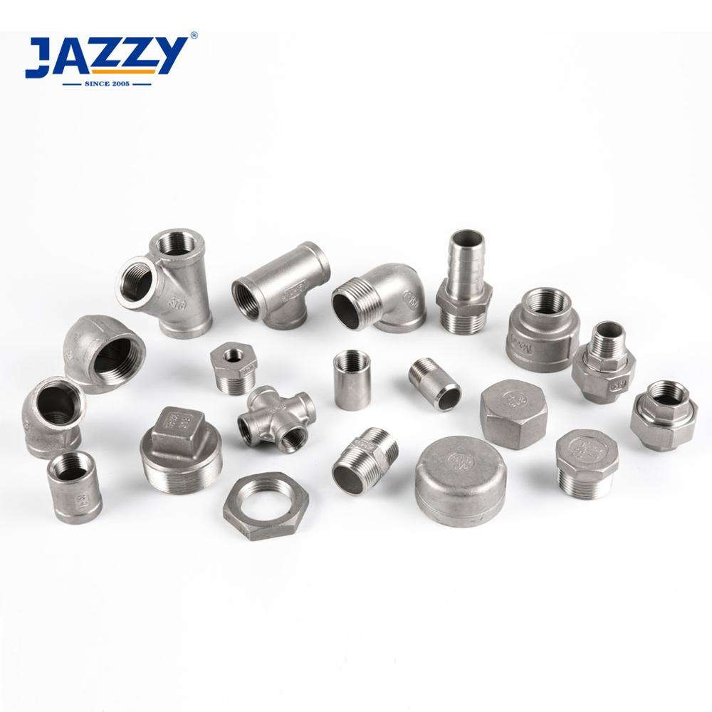 JAZZY professional food grade threaded male female npt bsp socket welded stainless steel pipe fitting
