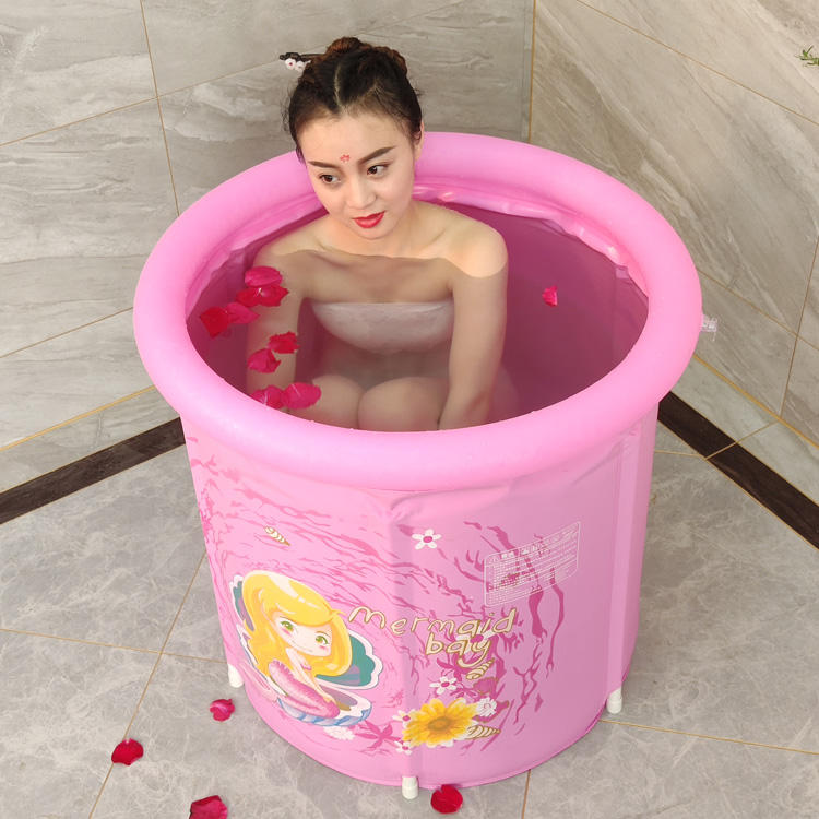 Wholesale Beautiful Modern Inflatable Folding Plastic Bath Tub For Adult