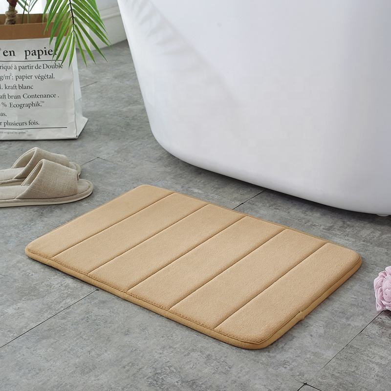 Memory Foam Bath Mat Badmat Groen For Bathroom Washable