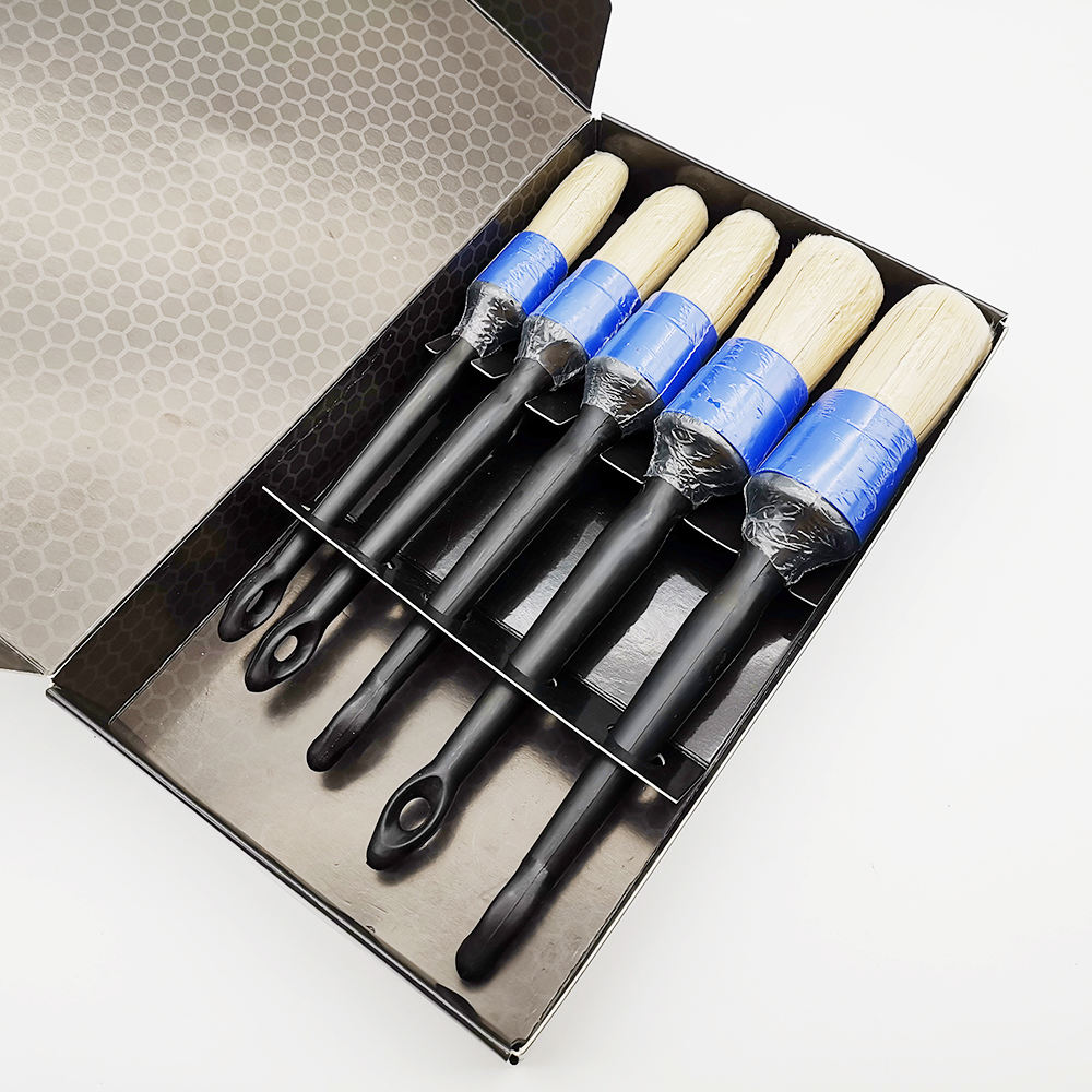 Master D71018 Supplying a Full Line of Car Cleaning Brush /Round Bristle Brush/5PCS Car Auto Detailing Brush Set
