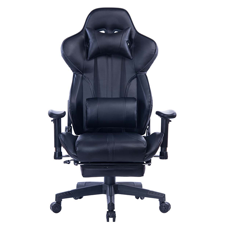 8239 Stock Black PU Leather Office Computer Leather Gaming Chair with Footrest