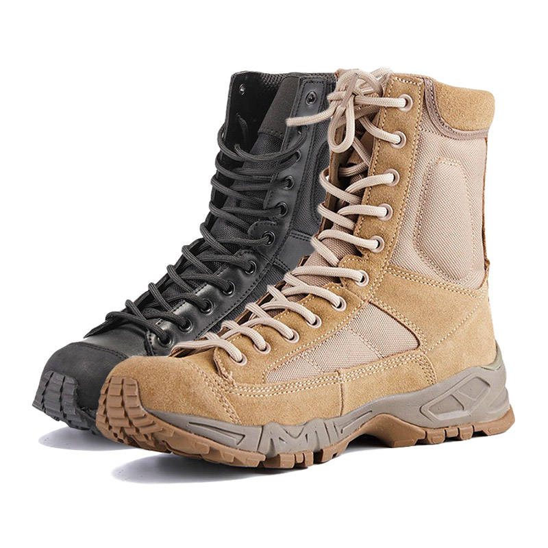 Wholesale High Ankle American Style Leather Men Army Desert Cheap Swat Tactical Boot Military Boots