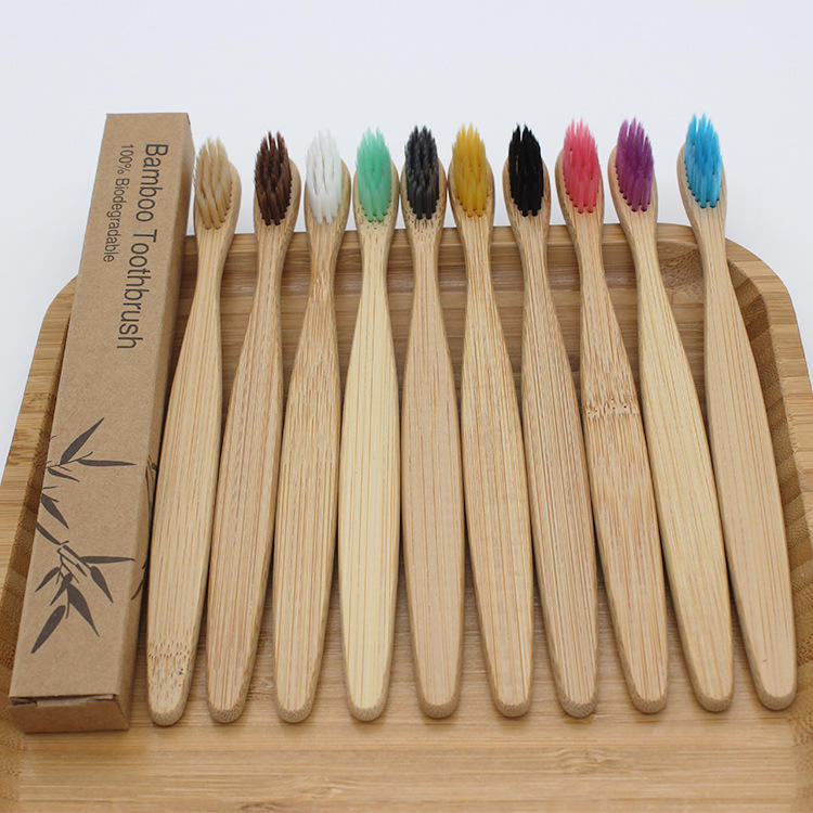 Youki 2020 cheap eco friendly can custom logo box package 11 colors reusable bamboo tooth brush