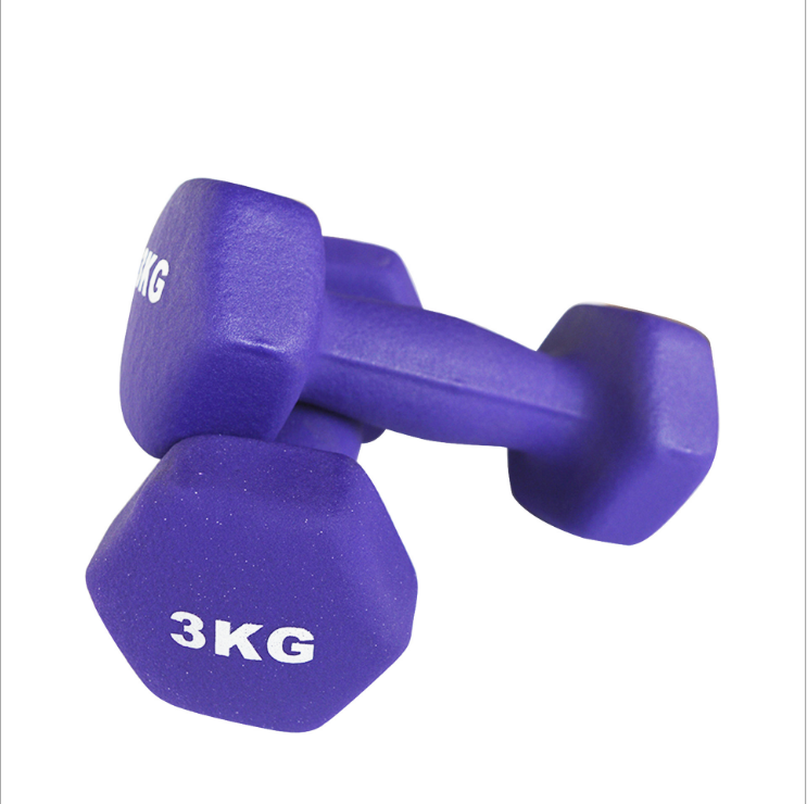 Amazon hot sale home colorful woman/man use Dumbell/Kids weight Dumbbell set with rack