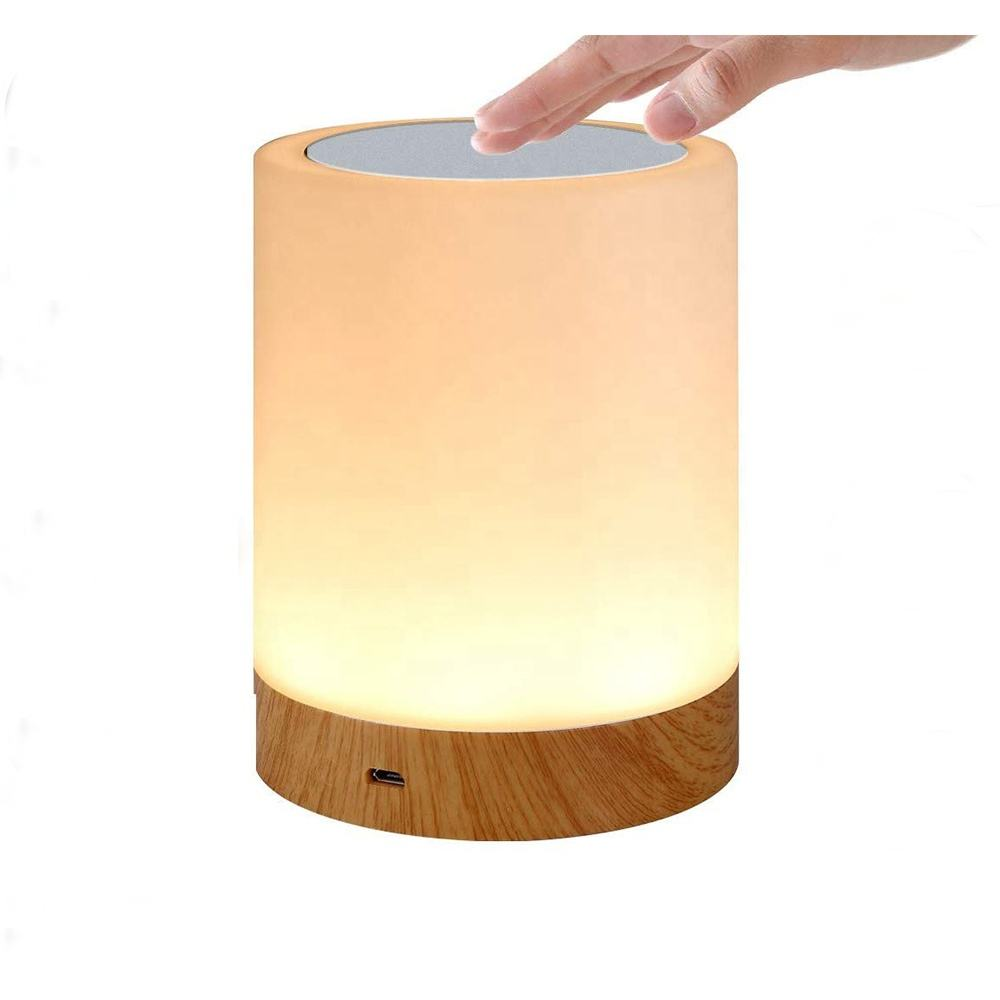 USB rgb color Rechargeable battery changing handing Night Light Kids Touch Control Dimmable LED Bedside Desk Bedroom Table Lamp