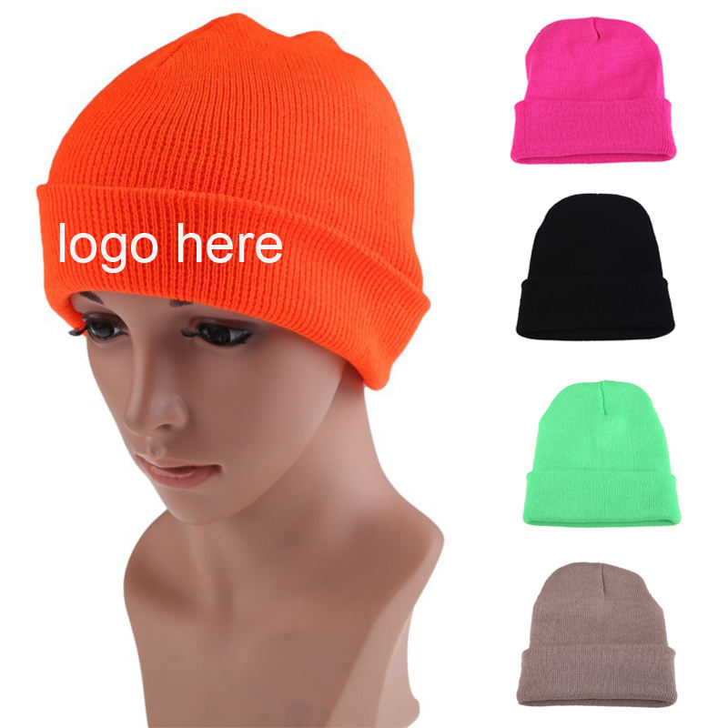 Super Quality 100% Acrylic Winter Warmly Custom Knitted Beanie Hat