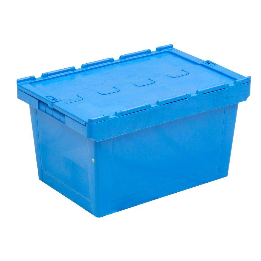 high quality 100% PP plastic logistic tote box with lids price