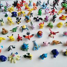 Wholesale Cartoon Figures Mini 2-3 cm 144 Designs Assorted Plastic Hard PVC Mini Pokemon Figure Toys
