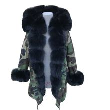 New Fashion Women  Real  Fur Parka with fox fur collar