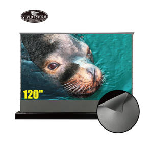 VIVIDSTORM 120 inch S Electric tab-tensioned rollable screen Obsidian Long Throw 4k Ambient Light Rejecting for Normal projector