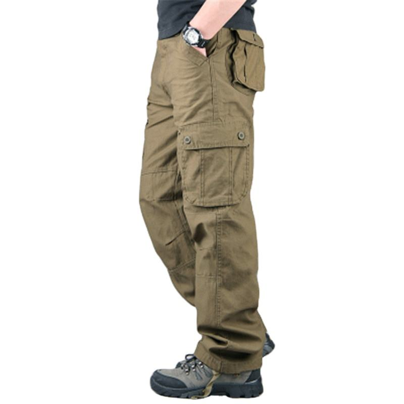 Wholesale wish Outdoor Pant Overalls Hiking Multi 6 Pockets Camouflage Cargo Worker Pant Plus Size Military Men's Tactical Pants