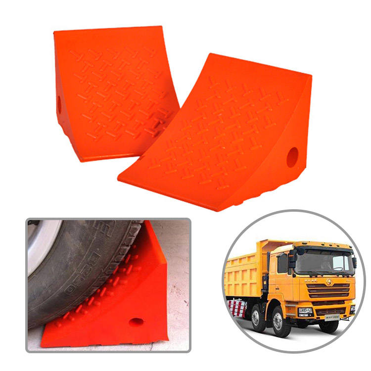 Factory Directly Polyurethane Truck Wheel Chock Parking Wheel Stopper Motorcycle Wheel Chock