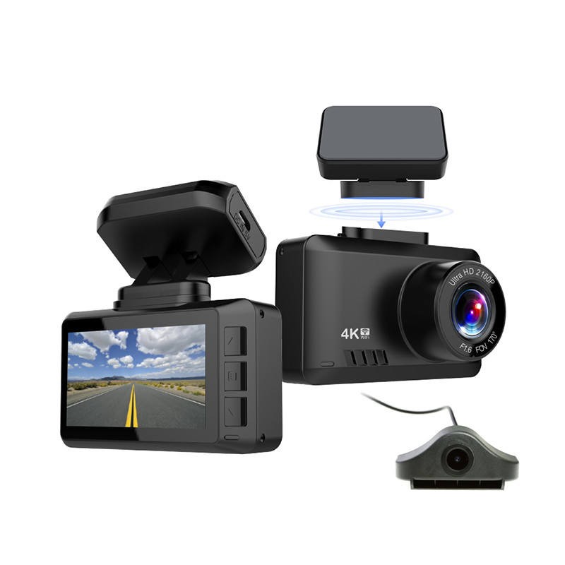 2.45 inch Novatek NT96670 Car DVR Sony IMX335 4K Dual Dash Cam WIFI GPS Speed Alert Dashcam