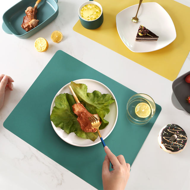 Morandi's Style Simple Pure Color Silicone Dining Table Mat