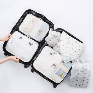 Travel Luggage Organizer Bag Set 7PCS Storage Bag Set Clothes Underwear Socks Packing Cubes Travelling Bag