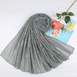 Zakiyyah VS174 China indonesia cotton and linen bronzing women scarves islam turban head hijab factory direct sales