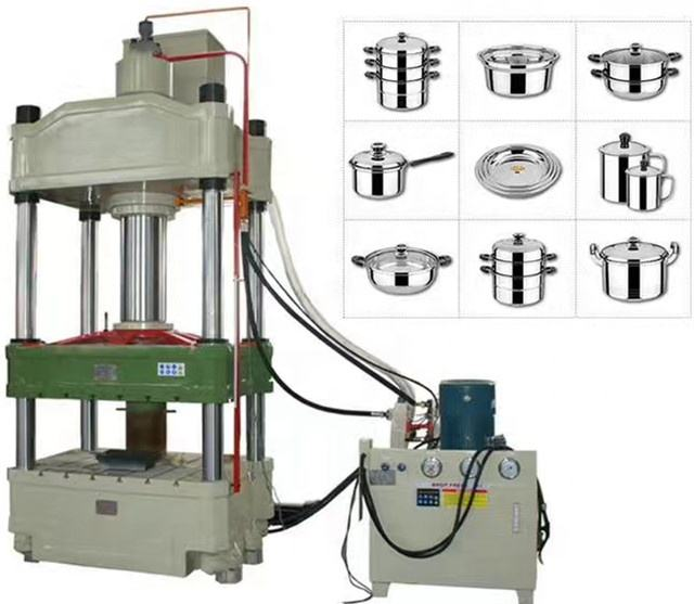 sheet metal punch tool aluminum puncher deep drawing hydraulic press machine for making pot, aluminum pot making machine