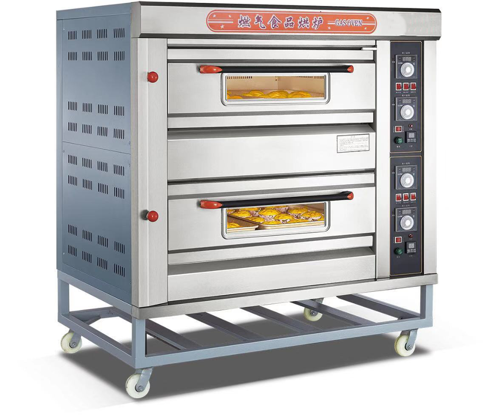 Restaurant Equipment for Sale Commercial Bakery deck Oven Deck Gas Oven baking ovens 2 Layers 4 Trays