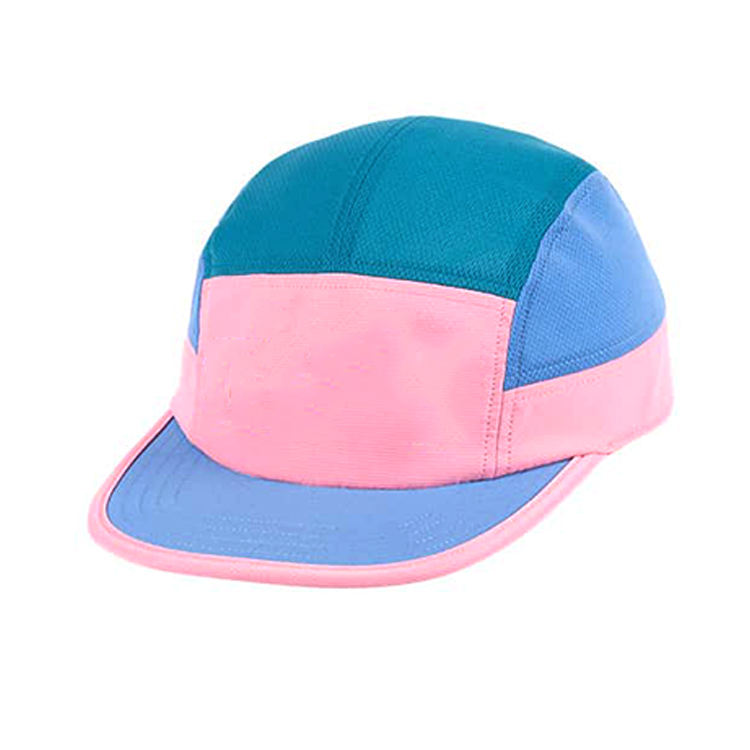 Manufacture Custom Running Hats fast drying 5 panel Fit night 5 Panel Camp Cap