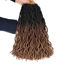 Colored Ombre color Goddess Long Crochet Hair Braids Dreadlock Faux Locs Braid Synthetic Hair Extensions