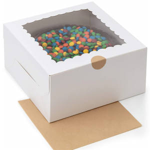 Birthday In Bulk Transparent With Window Product Candy Clear Wedding Plastic Custom Packaging Christmas Cake Boxes