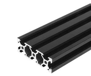 v wheel v- rails v slot bars 2060 vslot (20 x 60 mm) black / rail aluminum profile extrusion 2020 pricemeter
