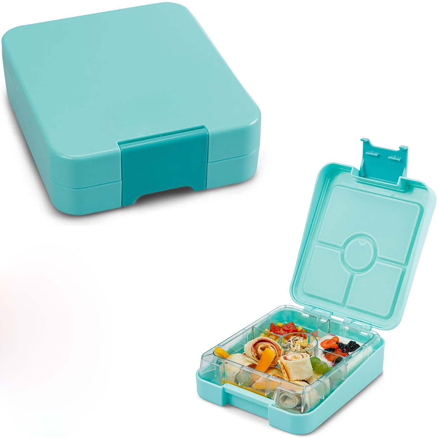 personalize plastic 4 compartment kids bento snack lunch box