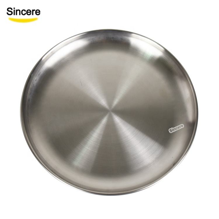 Stainless steel plate 304 dinner plate Korea round tray