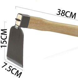 Small wide hoe wooden handle small hoe household tools excav