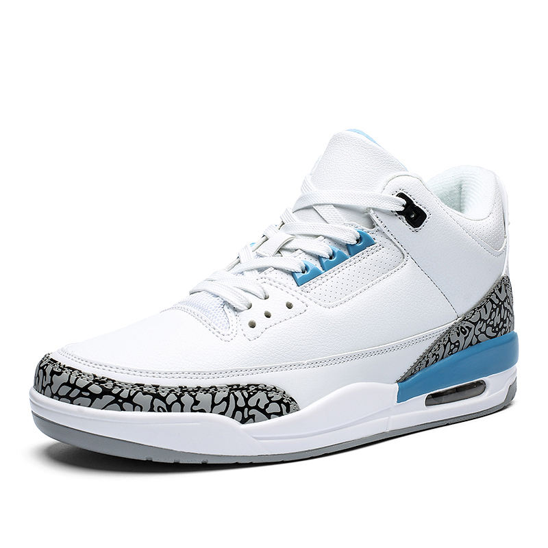 2020 custom logo high quality men's AJ3 large size air cushion sneakers Sports Basketball Shoes Aj3 Retro High Top Shoes For Men