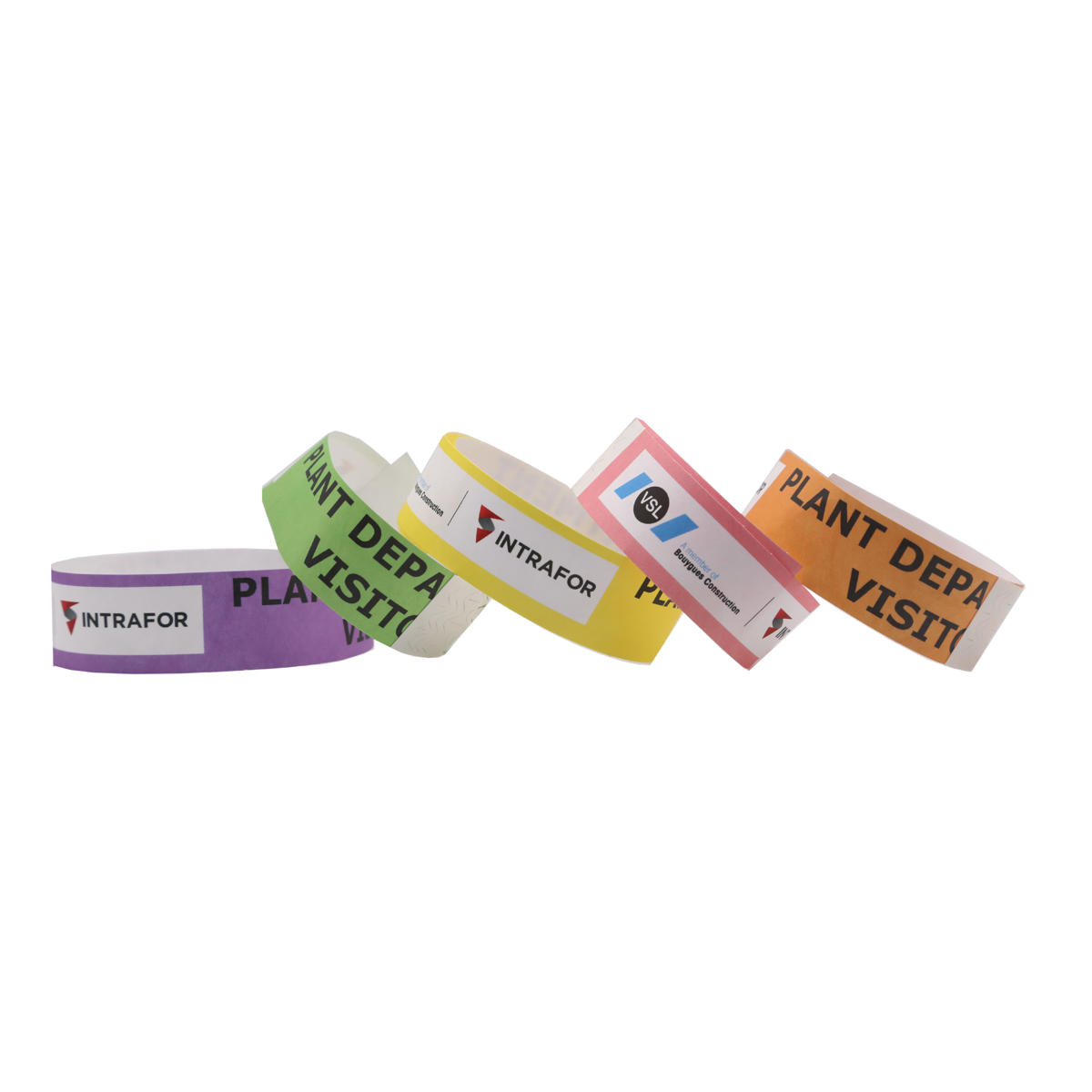 FTGO printable tyvek armband wristbands for both adult and kids event paper wristbands