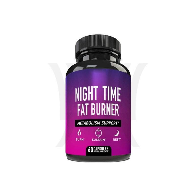 Night Time Fat Burner Metabolism Support Appetite Suppressant and Weight Loss Diet Pills for Men and Women 60 Capsules.