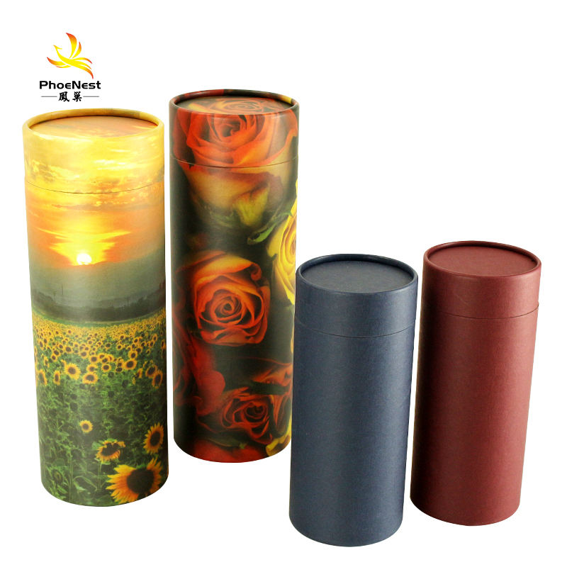 Eco Friendly Scattering Tube / Biodegradable Cremation Urn Cremation Casket
