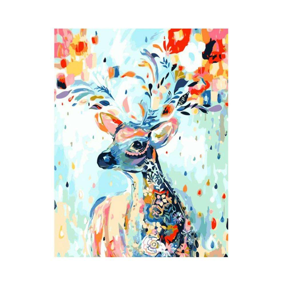 2020 Unframed Colorful Animal Custom Handmade Adult DIY Painting By Numbers Oil Diy Digital With Frame Canvas For Adult Kits