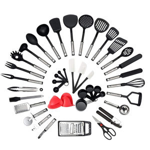 42 Piece Household Stainless, Steel And Nylon Kitchen Plastic Utensils -nylon kitchen utensil set/