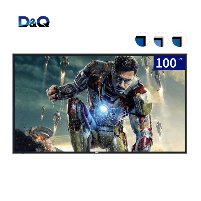 D & Q TV-100 ''4 k LED TV de Plasma de Tela plana Inteligente Android 9.0 100 polegadas touch screen