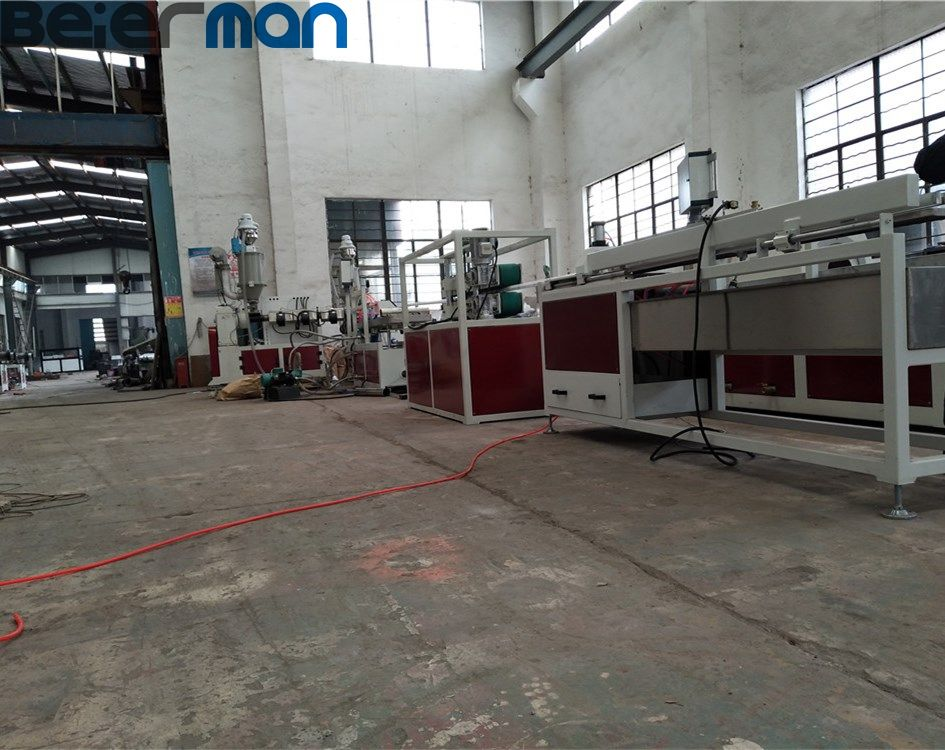 PC ABS material 2 colors LED lamp light tube production line/square shapes 2 extruders machine