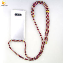 2020 Necklace Strap Shockproof Transparent Phone Case Cover For Samsung Galaxy S20/S20 Plus