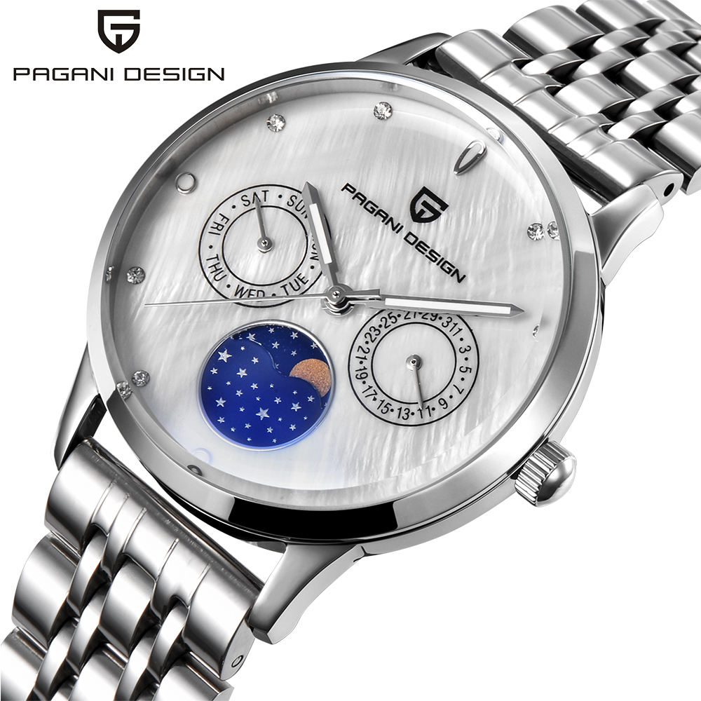 PAGANI DESIGN 2723L Famous Women's Quartz Hands Watch Moon Phase Chronograph Cheap Price Ladies Watches