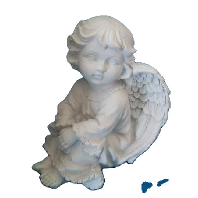 Resin Material unpainted naked Angel figurine