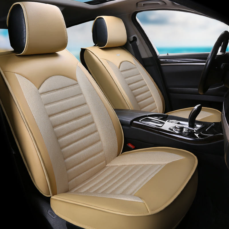 Full Set Leather Universal Car Leather Seat Covers Set