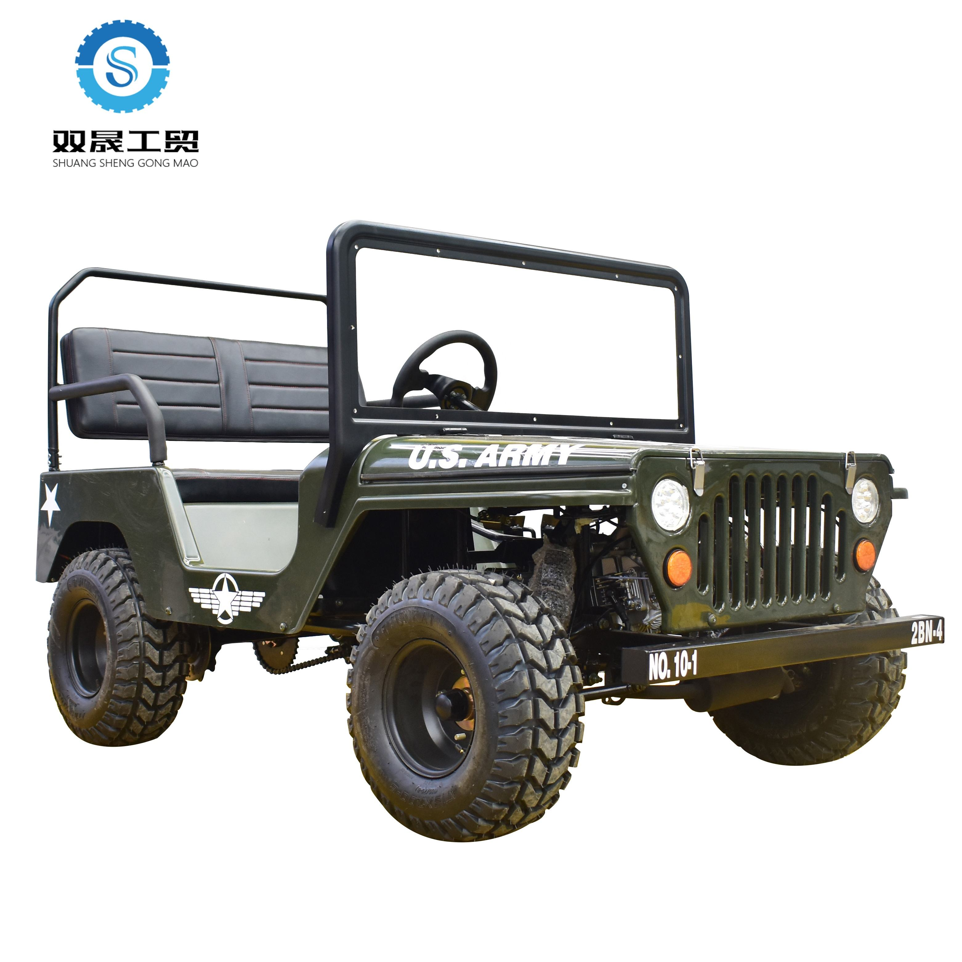2019 nuovo bello stile <span class=keywords><strong>110cc</strong></span> quad bike dune buggy spiaggia buggy <span class=keywords><strong>mini</strong></span> <span class=keywords><strong>jeep</strong></span> willys per adulti