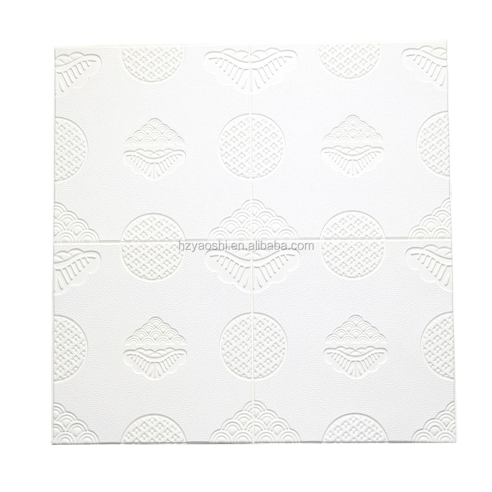 New Product White Ceiling Wall Paper 700mmx700mmx6mm Wallpaper 3D Brick Foam Assorted