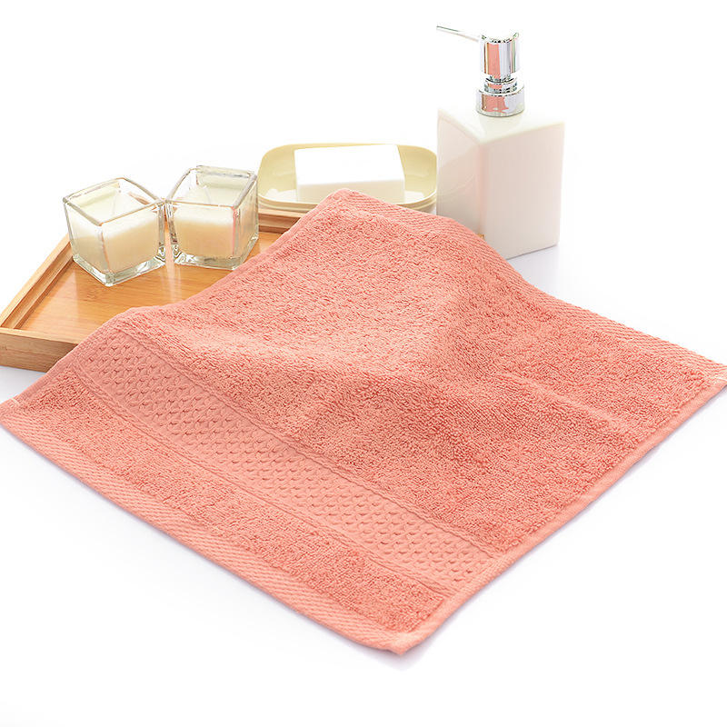 New Design High Quality Simple Design 100% Cotton Thicken Absorbent Face Hand Square Towel