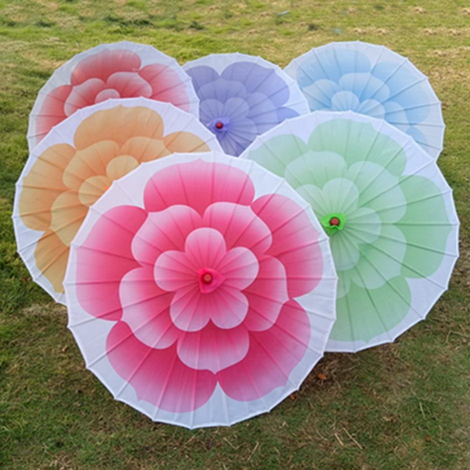 Jasmine Flower Chinese Nylon Umbrella Fabric Craft Wedding Parasol Decoration